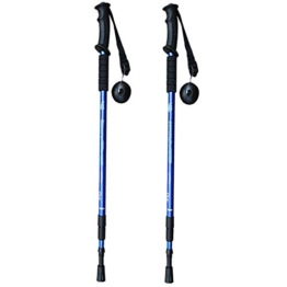 2ST Adjustable Trekking Teleskop Gehen Walking-Stöcke Anti Shock Wanderstock - 1