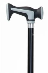 Designer Gehstock Spazierstock SCORT mit Softkerngriff zur Entlastung der Handgelenke / höhenverstellbar - 1