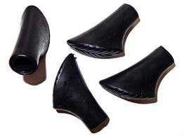 Eurobatt 4X Gummipuffer Ersatzfüße für Nordic Walking Stöcke Pads schwarz - 1