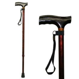 Homecraft Farbige Gehstöcke, Walnuss Farbe, Gehen Assisstant Gerät für ältere Menschen, Behinderte, und deaktivierte Benutzer, Einstellbarer Cane für Stabilität und Unterstützung, Leichte Spazierstock - 1