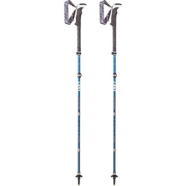 LEKI Micro Vario Carbon AS Wanderstöcke, Blue - 1
