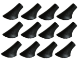 MIGHTY PEAKS 12 Stück / 6 Paar Nordic Walking Pads Asphalt Gummipuffer X-4GT für alle gängigen Nordic Walking Stöcke - Wanderstöcke - für den Nordic Walking Stock mit einen Durchmesser von 10mm - 1
