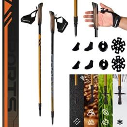 MSPORTS Nordic Walking Stöcke Carbon Premium - aus hochwertigem Carbon - Superleicht - individuell einstellbar - auswählbar mit Tragetasche - Walking Sticks (Nordic Walking Stöcke Carbon + Tasche) - 1
