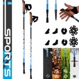 MSPORTS Nordic Walking Stöcke Premium inkl. Tasche - hochwertige Qualität - Superleicht - Walking Sticks - 1