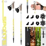 MSPORTS Nordic Walking Stöcke Premium White - hochwertige Qualität - Superleicht - auswählbar mit Tragetasche - Walking Sticks (Nordic Walking Stöcke) - 1