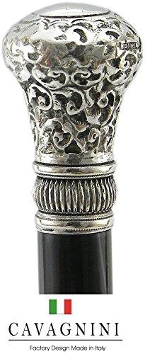 Spazierstock elegant gehstock holz Elegant damen Vintage Silber Made in Italy Cavagnini, benutzerdefinierte schwarz - 1
