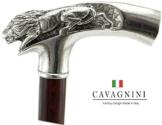Spazierstock Holz Silber Zinn Griff schwarz elegant Hand gefertigt in unserem Labor Cavagnini solide und robuste Stick Modell lion Damen Orthopäde - 1