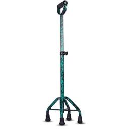 XING ZI Walker X-L-H Krücken Für Ältere Menschen, Anti-Rutsch-, Multifunktions-Stock, Gesundheits-Gehhilfe, 4 Beine, 68-86cm (Farbe : Green) - 1